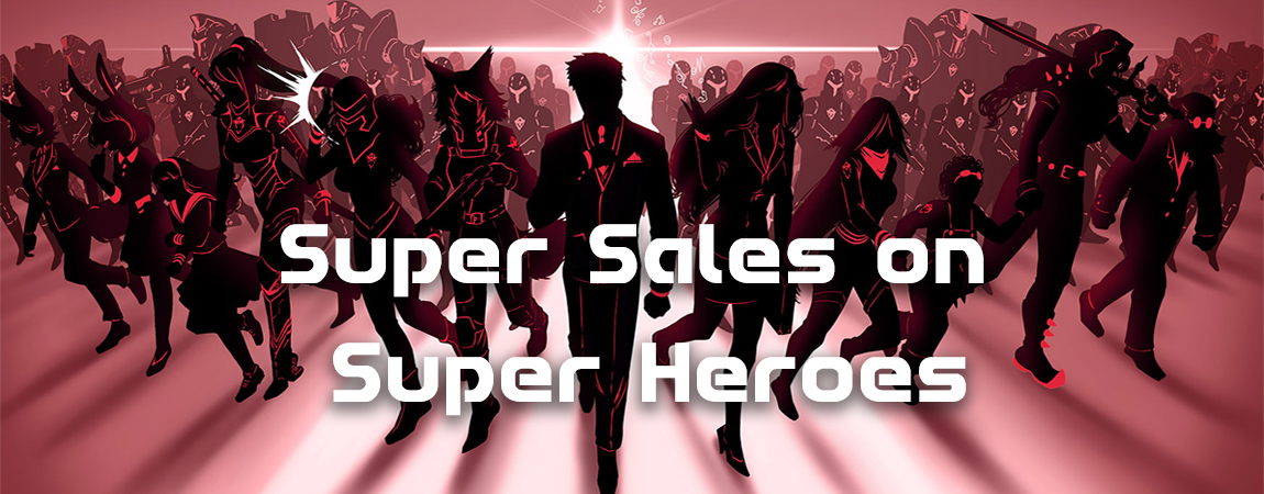 Super Sales on Super Heroes Slider